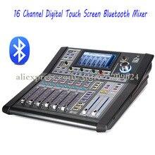 Pro DJ 16 канальный многофункциональный цифровой сенсорный экран микшер контроллер с Bluetooth USB 48 В фантомное питание Аудио Смешивание звука