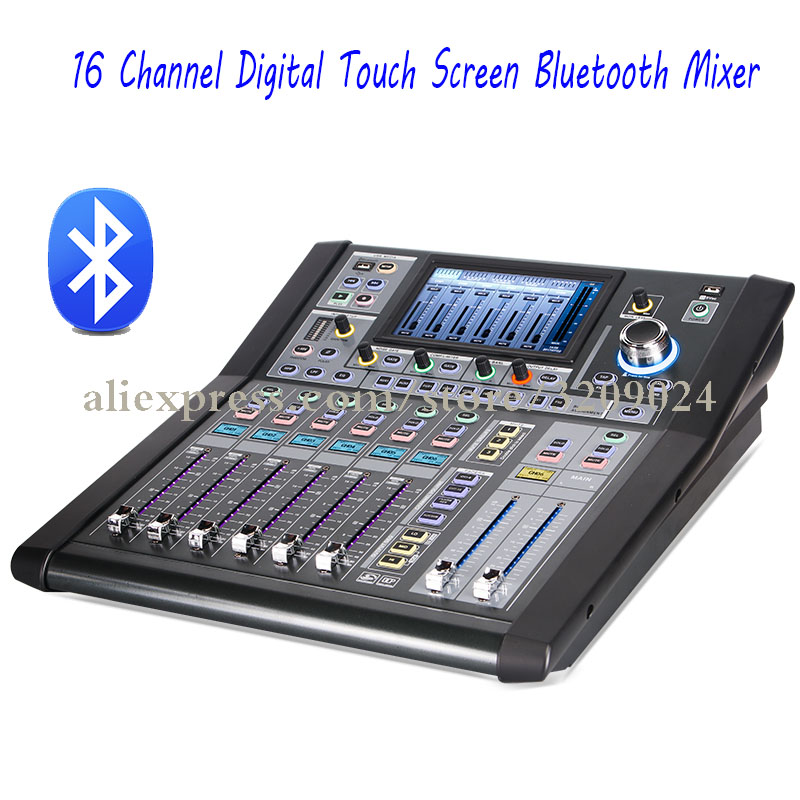pro dj 16 channel multi function digital touch screen mixer controller with bluetooth usb 48v. Black Bedroom Furniture Sets. Home Design Ideas