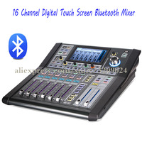 Pro DJ 16 Channel Multi function Digital Touch Screen Mixer Controller with Bluetooth USB 48V Phantom Power Audio Sound Mixing