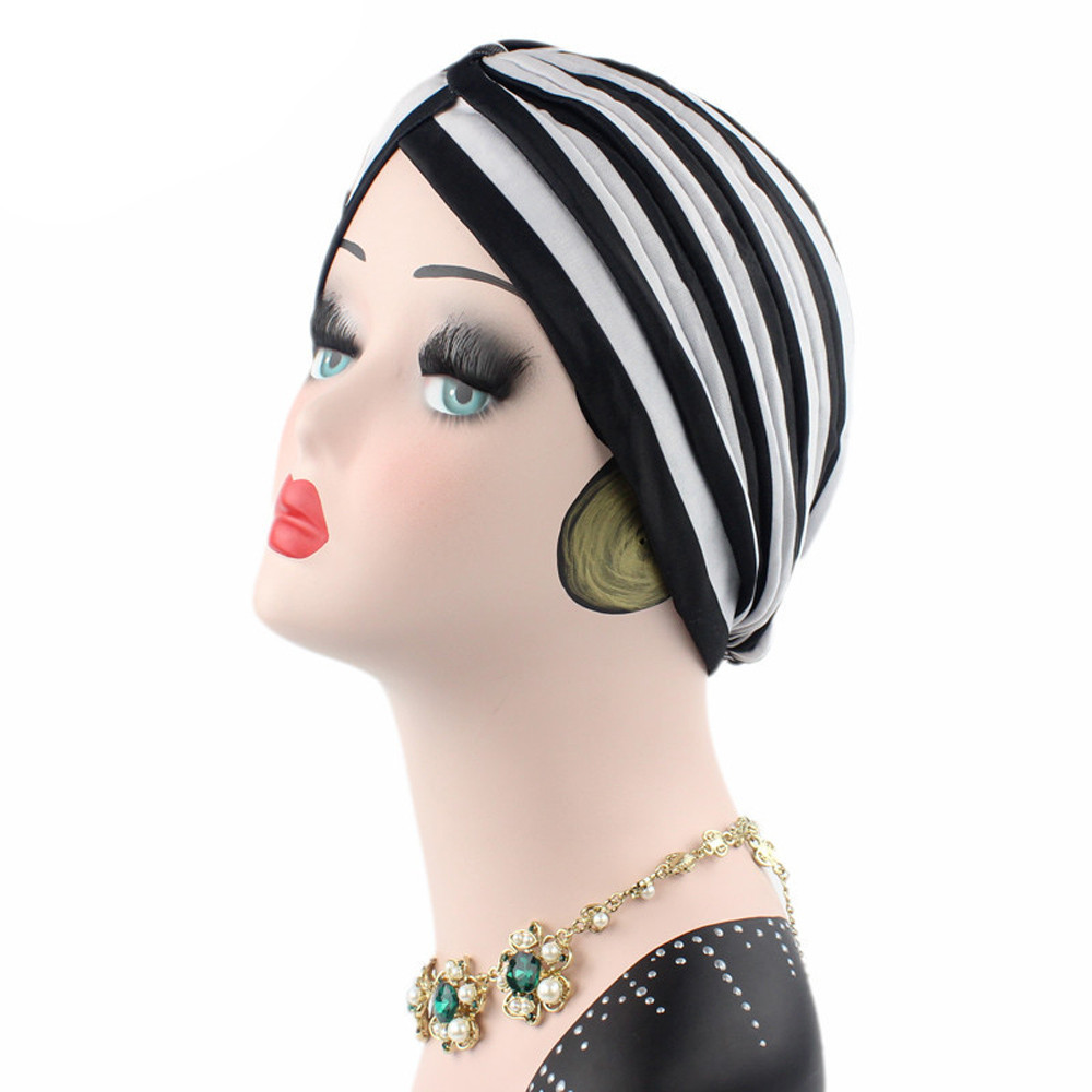 56b2c36cd54b5 Detail Feedback Questions about Headband Women Cancer Chemo Hat Beanie Scarf  Turban Striped Head Wrap Cap Bonnet Femme Gorros Toucas Feminina Gorras on  ...