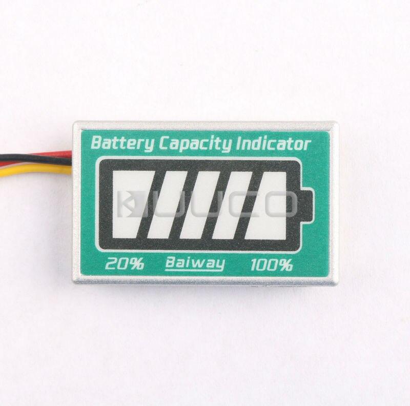 Dc 12 V plomb - acide indicateur de capacité Led affichage testeur de capacité de la batterie / moniteur pour voiture / moto / Golf panier etc