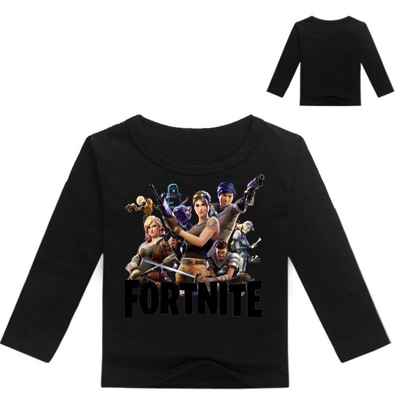 2018 Game Fortnite Long Sleeve T Shirt for Boys Girls Spring Autumn Childrens Clothing Cartoon T-shirt Kids Baby Clothes 3-14T