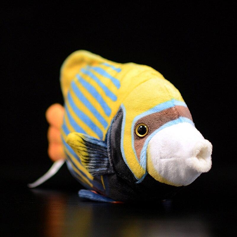 Cute Tropical Fish Emperor Royal Angelfish Figurine Simulation Pygoplites Diacanthus Animal Plush Toy Baby Kids Christmas Gifts