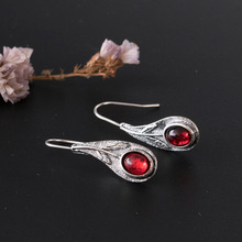 Hello Miss new red vintage alloy earrings fashion pendant personalized ladies holiday gifts