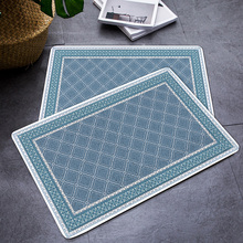 European retro style Entrance hall carpet PVC wire loop mat INS geometry Door Living room floor bathroom non-slip rug