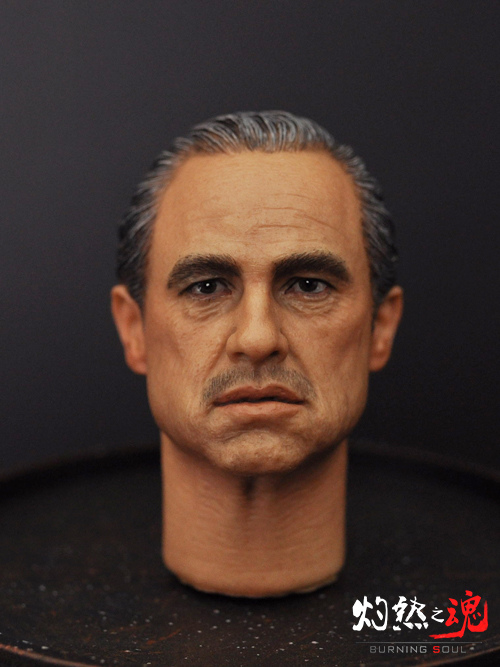 цена на 1/6 Scale Marlon Brando Head Sculpt The Godfather Corleone Head Carving for 12 inches Male Figure Body With Gift