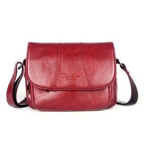 Image 3 - Echt Leer Beroemde Designer Vrouwen Crossbody Tassen Kleine Messenger Bags Reizen Schoudertassen Voor Dames Handtassen Tote Purse