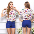 New 2015 Spring Summer Casual Women Chiffon Blouses Shirt Plus Size High Street Fashion Tops Camisas Roupas  Blusas Femininas