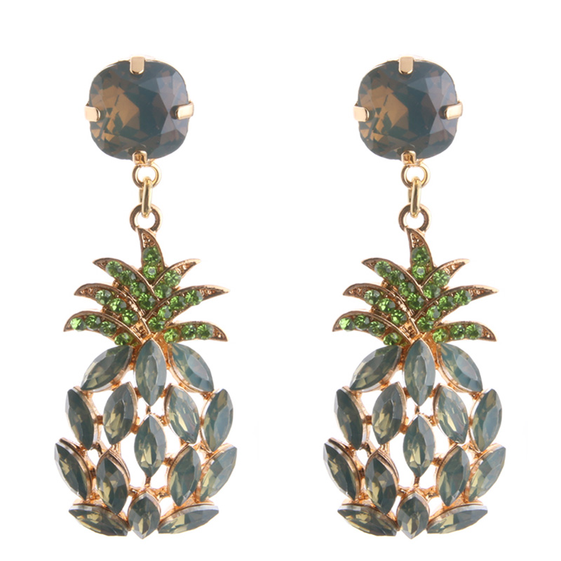 ... leave Neutral or Negative feedback About NeeFu WoFu Drop Rhinestone  Earring Crystal Pineapple Big Earring Dangle Zinc alloy Large Long Brinco  Printing ... e40cd9c6e0e1