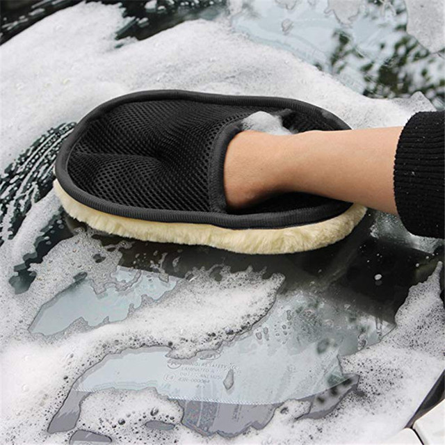 Car Styling Wool Gloves Soft Car Washing Cleaning Brush Motorcycle Washer Care Products Wash Glove Motor Motorcycle Washer Auto