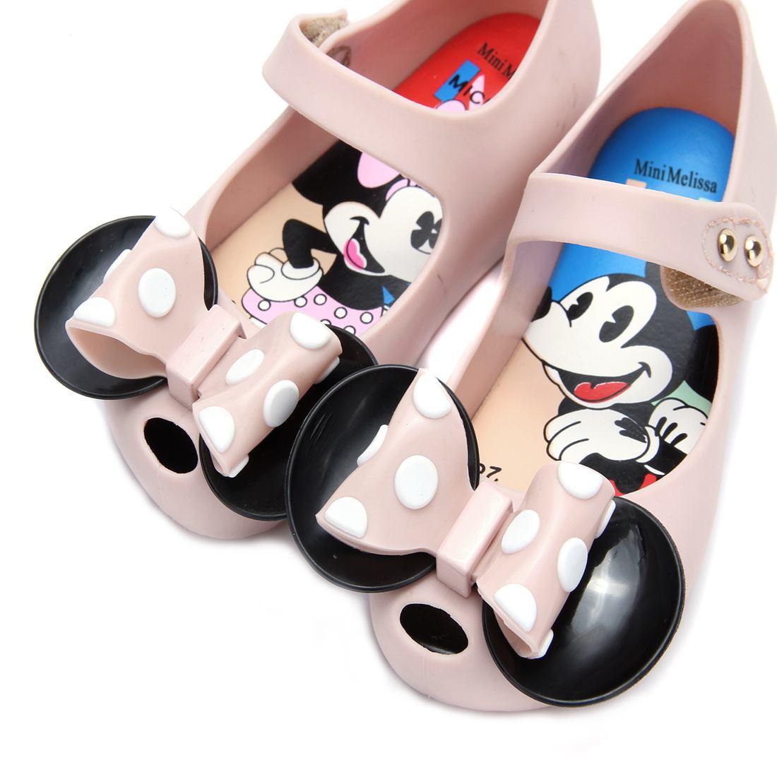 Mini Melissa 2 Layer Bow Mouse Twins Kids Sandały 2018 Nowe zimowe - Obuwie dziecięce - Zdjęcie 4