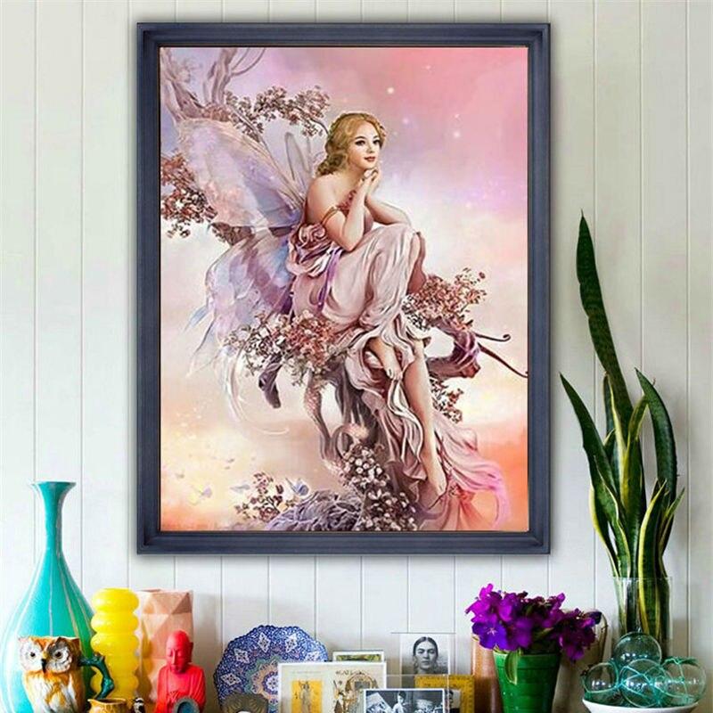 Diamante Bordado brillante cristal DIY diamante pintura ronda diamante mariposa asistente gráfico imagen decoración rhinestone