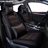 CAR TRAVEL custom real leather car seat cover for Toyota Corolla Camry Sienna Wish Venza Fortuner YARiS L CH R IZOA Prius auto