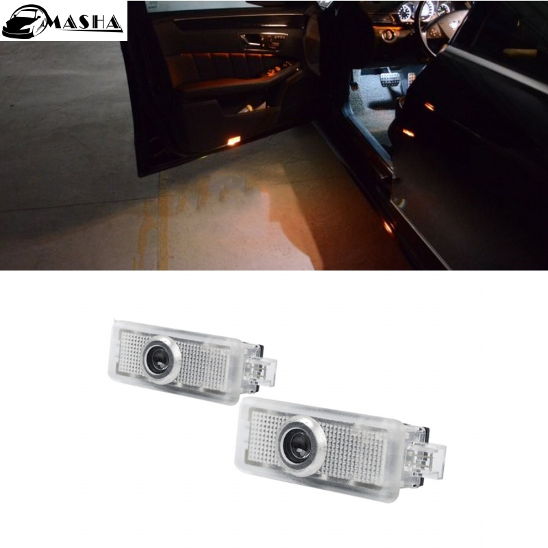 2Pc Welcome Car Door Light LED Laser Logo Projector for Mercedes Benz W212 W205 W176 C204 S212 X166 W246 W242 AMG E B C ML Class