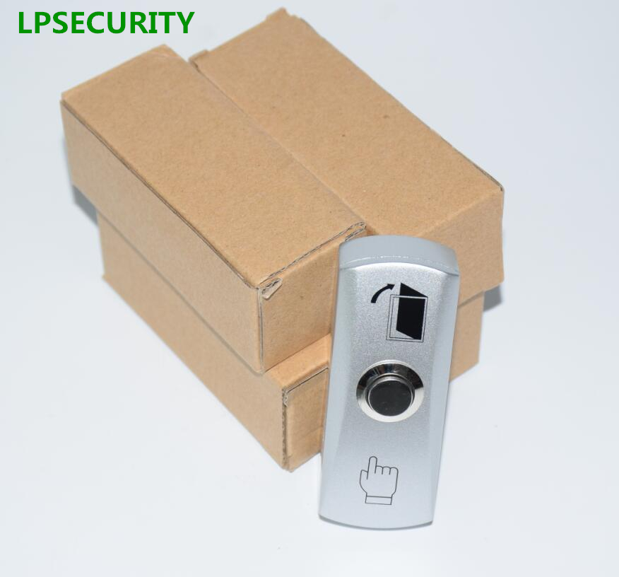 LPSECURITY 5pcs per pack door gate lock exit push button switch 12VDC use купить