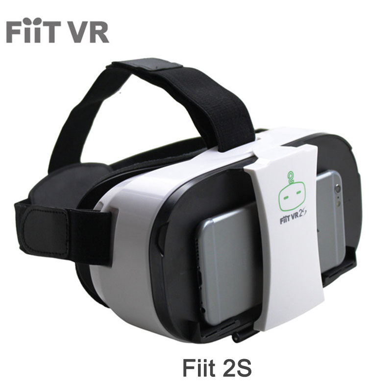 FiiTVR 2S Head Mount 3 D Cardboard Virtual Reality Goggles VR Headset Glasses Phone 3D Video Game Private Theater+Controller