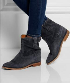 Top Qulity Beige Coffee Black Suede Chelsea Boots Elastic Patchwork Woman Motorcycle Ankle Boots Cowboy Casual Shoes Free Ship in Ankle Boots from Shoes