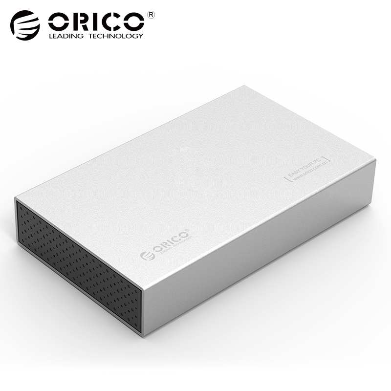 все цены на ORICO HDD Case 3.5 inch Hard Drive Disk Case SSD Adapter USB3.1 to SATA HDD Box for 1TB 2TB External HDD Case
