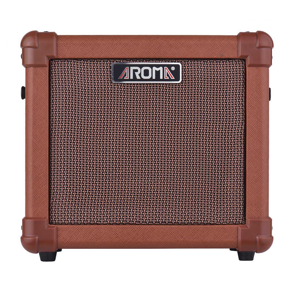 Аромат AG-10A акустической гитары усилитель Amp Динамик 10 Вт с микрофоном Интерфейс аудио Вход гитара Запчасти и аксессуары