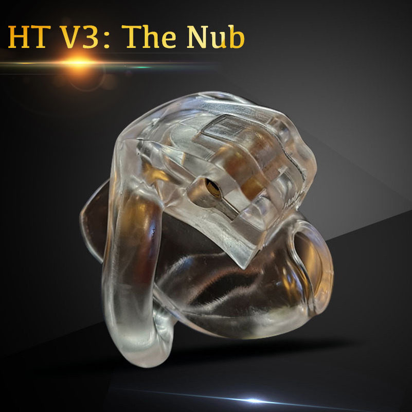 The Nub of HT V3 Male Chastity Device Resin Belt  4 Colors Mini Cage With Cock Rings Sex Toys
