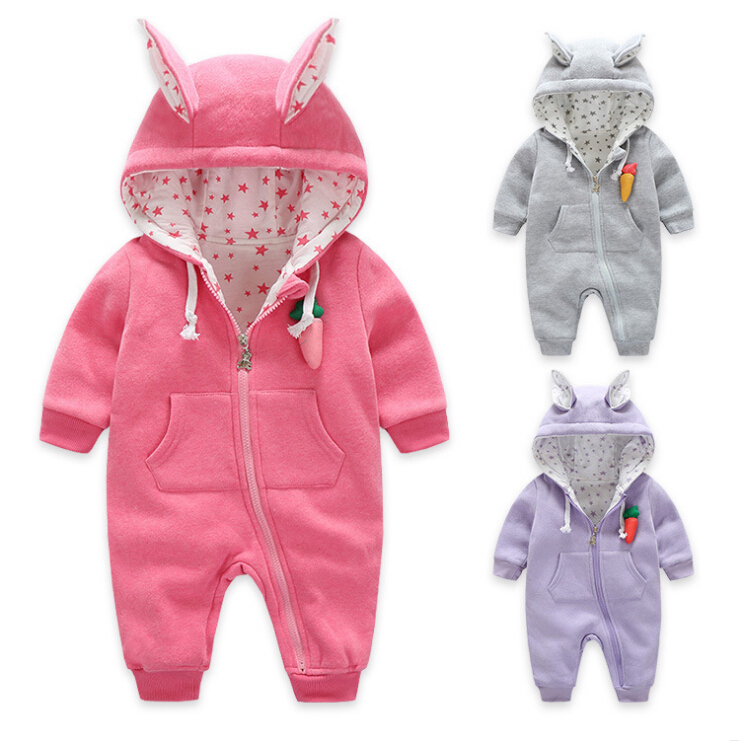Newborn Baby Girls Clothing cotton Winter Boy Rompers Cartoon Infant Clothes Meninas Bear Down Snowsuit Babies Jumpsuits newborn baby girls rompers cotton padded thick winter clothing set cartoon bear infant climb hooded clothes babies boy jumpsuits