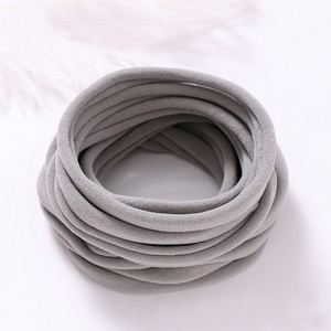 Image 5 - 100 pcs/lot, New Solid Color Nylon Elastic Headbands Super Soft and Non Mark, Traceless Baby Headbands