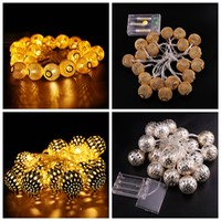 FUNIQUE 1Set 20LEDs String 2m Christmas Halloween Light Battery Operated Home Garden Outdoor Decor Party Halloween