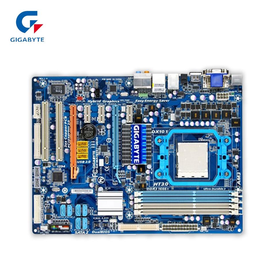 Gigabyte GA-MA785GT-UD3H Original Used Desktop Motherboard MA785GT-UD3H 785G Socket AM3 DDR3 SATA2 USB2.0 ATX  gigabyte ga 870a usb3 original used desktop motherboard amd 870 socket am3 ddr3 sata3 usb3 0 atx