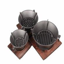 Новинка! Толстая железная печь на древесном угле гриль на древесном угле с доской