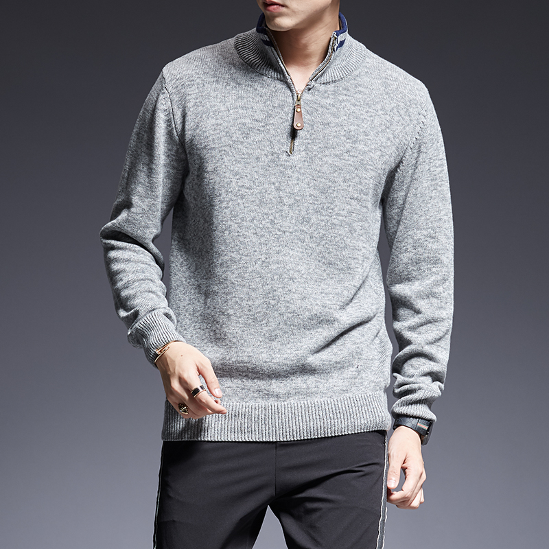 2019 New Autumn Korean Style Casual Mens Clothes Fashion Brand Sweater Men Pullovers Warm Slim Fit Jumpers Knitwear Turtleneck
