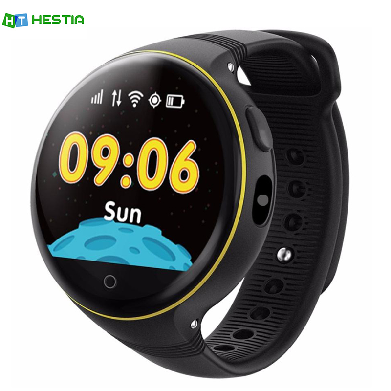 HESTIA S668 Children Smart Watch Round Screen GPS SOS Wristwatch Remote Viewfinder for Kids support SIM card PK Q50 q90 hold mi q90 gps phone positioning fashion children watch 1 22 inch color touch screen wifi sos smart watch baby q80 q50 q60