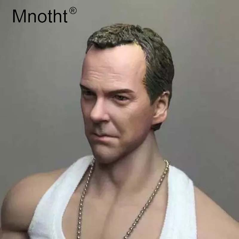Mnotht 1/6 Scale Jack Bauer Head Sculpt Model 24Hours Movies Male Soldier Head Carving Model Toys Collections Action Figures m3 mak custom 1 6 scale hugh jackman head sculpt wolverine male headplay model fit 12kumik body figures