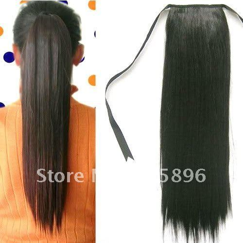 FREE Shipping-2011 New fashion straight tie- Ponytail hairpieces Girl's  Hair extension