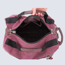 Designer Quality Canvas Travel Bag Fashion Women's Casual Luggage Duffle Female Backpacks Unisex Rucksack Shoulder bag