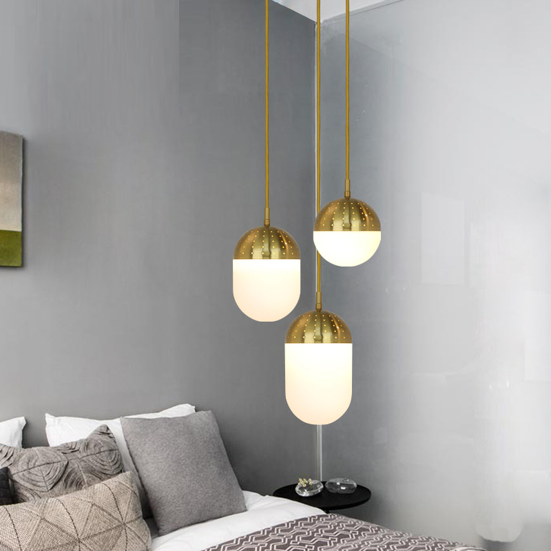 Single Head Pendant Lamps Personalized Iron Glass Hanging Light Stairs Bar Bedroom Pendant Light Dining Room led Pendant lights siku модель машины с прицепом и спортивной машиной 2544