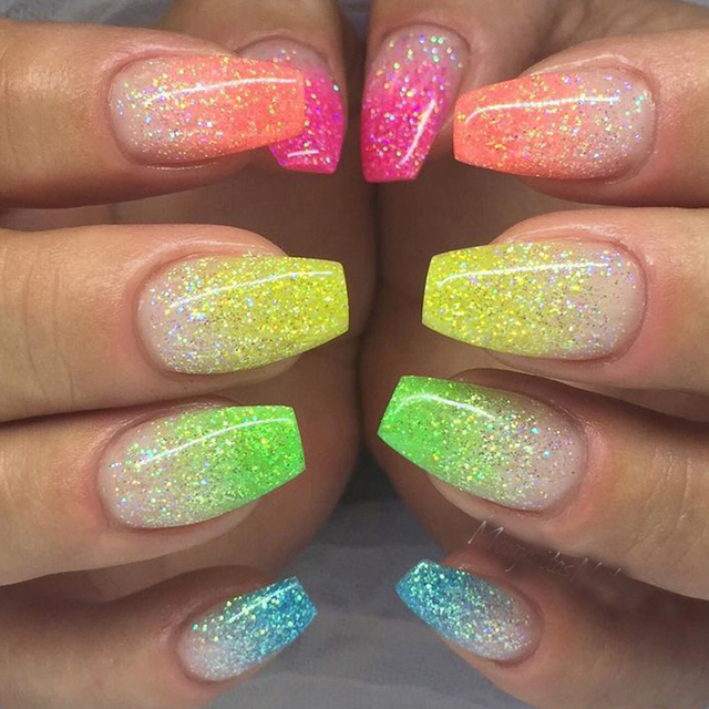 1g 6 Color DIY Beauty Glitter Phosphor 3d Glow Nail Art Fluorescent  Luminous Neon Powder  093c023d7eee