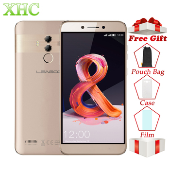 LEAGOO T8s Mobile Téléphone RAM 4 gb ROM 32 gb 5.5 pouces FHD Android 8.1 MT6750T Octa Core Visage ID 13MP OTG GPS Double SIM 4g Smartphones