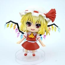 4 New Arrival Anime Action Figure Touhou Project Flandre Scarlet 136# Q Version 10cm PVC Model Collection Cute Doll Brand New