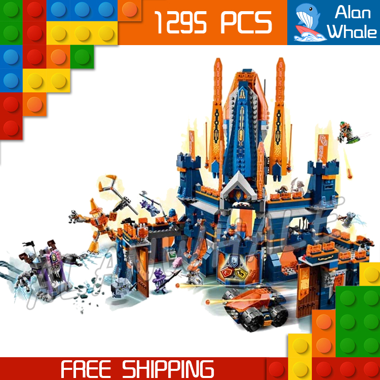 1295pcs Knights Knighton Castle Model Building Blocks 10706 Assemble Bricks Children Toys Games Nexus Compatible With Lego 785pcs knight stone colossus of ultimate destruction model building blocks 14036 assemble bricks toys nexus compatible with lego