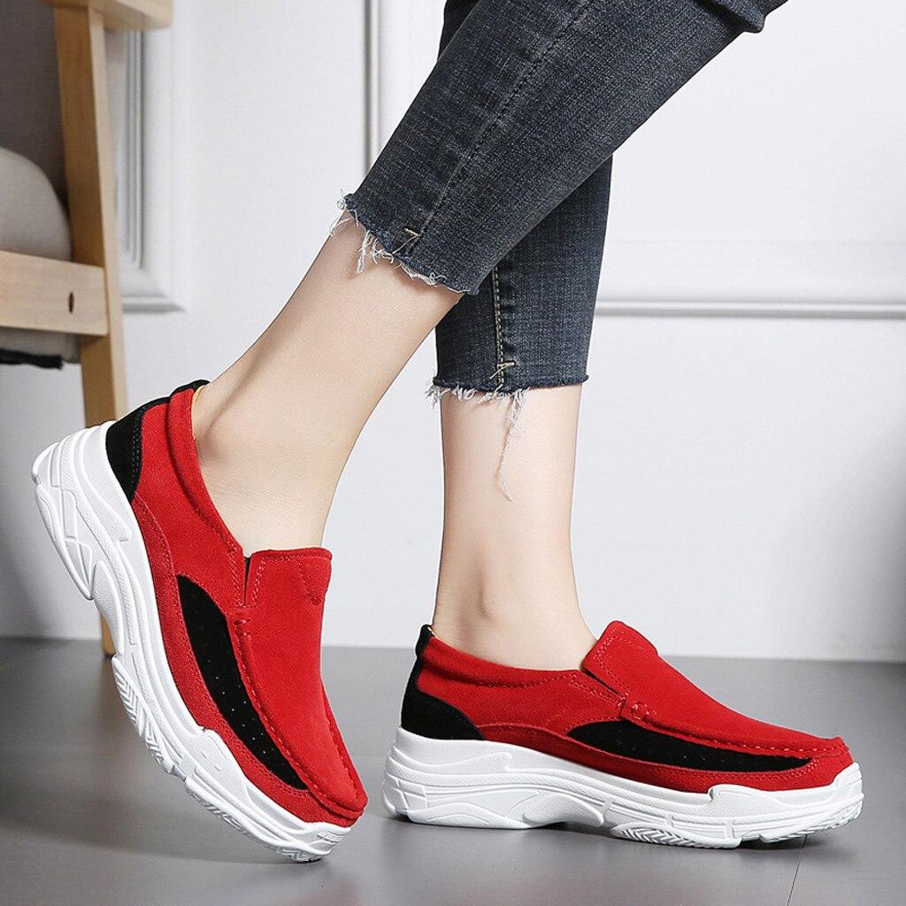 rouge Fond Non Offre Bande Plat 2019 Chaussures Femmes Casual Sport De Noir Cales Simples 19 Mode slip Élastiques Muqgew Spéciale Pois bleu gris 0vaBO