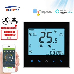 HESSWAY TUYA 2 ROHR temperatur schalter thermostat WIFI für 0-10V proportional integral vavle & fan