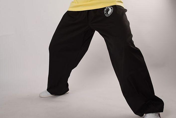 Slim Hoge Kwaliteit Unisex Katoen Tai Chi Taiji Broek Kung Fu Vechtsporten Broek Taichi Wushu Bloeiers Zwart