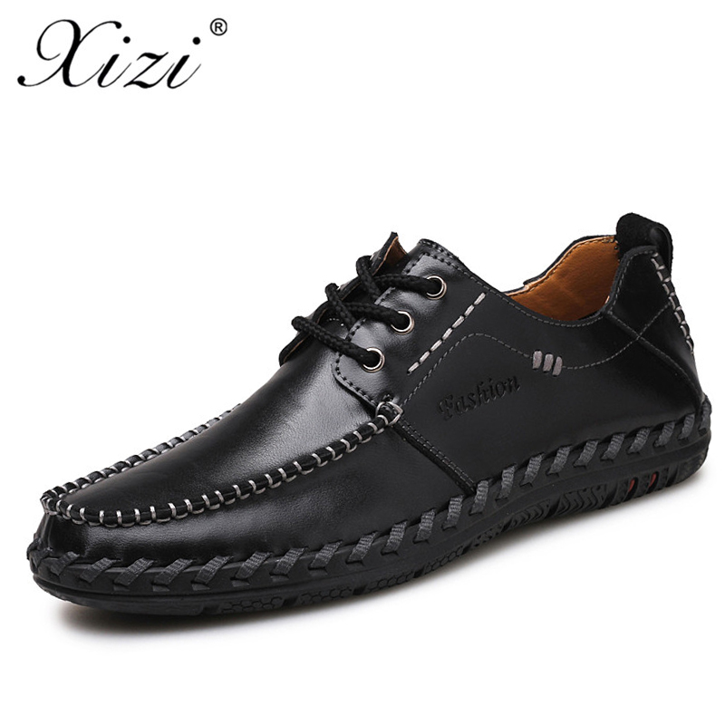 XIZI brand Men's Split Leather Loafers Male Casual Shoes Soft Breathable oxford Driving Flats footwear Design boat krasovki shoe vesonal 2017 quality mocassin male brand genuine leather casual shoes men loafers breathable ons soft walking boat man footwear