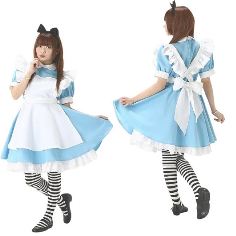 COSPLAY Alice in Wonderland Super Meng Maid Loaded Water Blue Maid Service COS Anime Costume Costumes