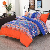 2/3 Pcs Bohemia Soft bedding sets With Pillowcase Striped Printed Polyester Duvet Cover Set Full Queen King SizeSj235