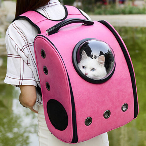 Breathable Grommet Space Capsule Backpack Dog Carriers Bags Pet Products Dog Supplies Backpack Z30