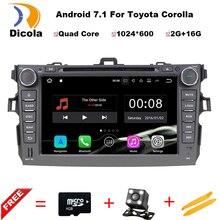 """8 """"ОС Android 7.11 dvd-плеер автомобиля для Toyota Corolla 2006-2011 GPS nav Радио стерео bluetooth, Wi-Fi 3 г подарок 8 ГБ GPS карты и Географические карты"""