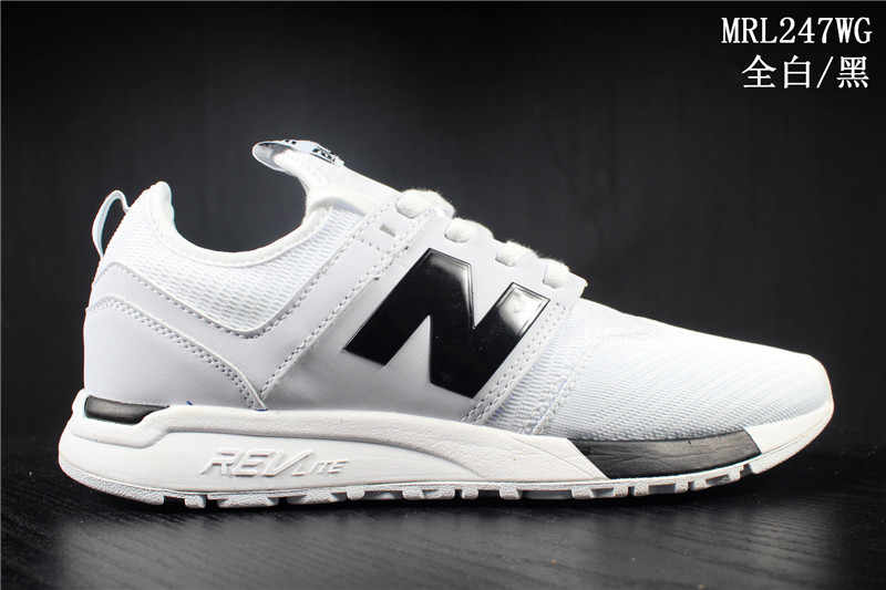a45b3b17f57a0 NEW BALANCE 247 Retro Authentic Men's/Women's Running Shoes,White With  Black Color MRL247WG