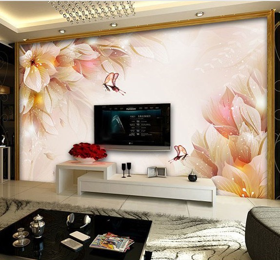 Custom Environmental 3D stereoscopic large mural wallpaper background wall paper the living room sofa TV Specials new flowers latest high quality custom 3d mural dream of the big tree under the moon living room sofa tv wall bedroom wall paper