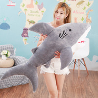 80cm adult Toddlers Soft Plush Toy Pillow Cute stuffed toys lifelike shark Doll cushion Gift birthday new year gift to a child